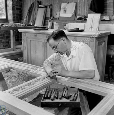 Martin Dutton, wood carver, York